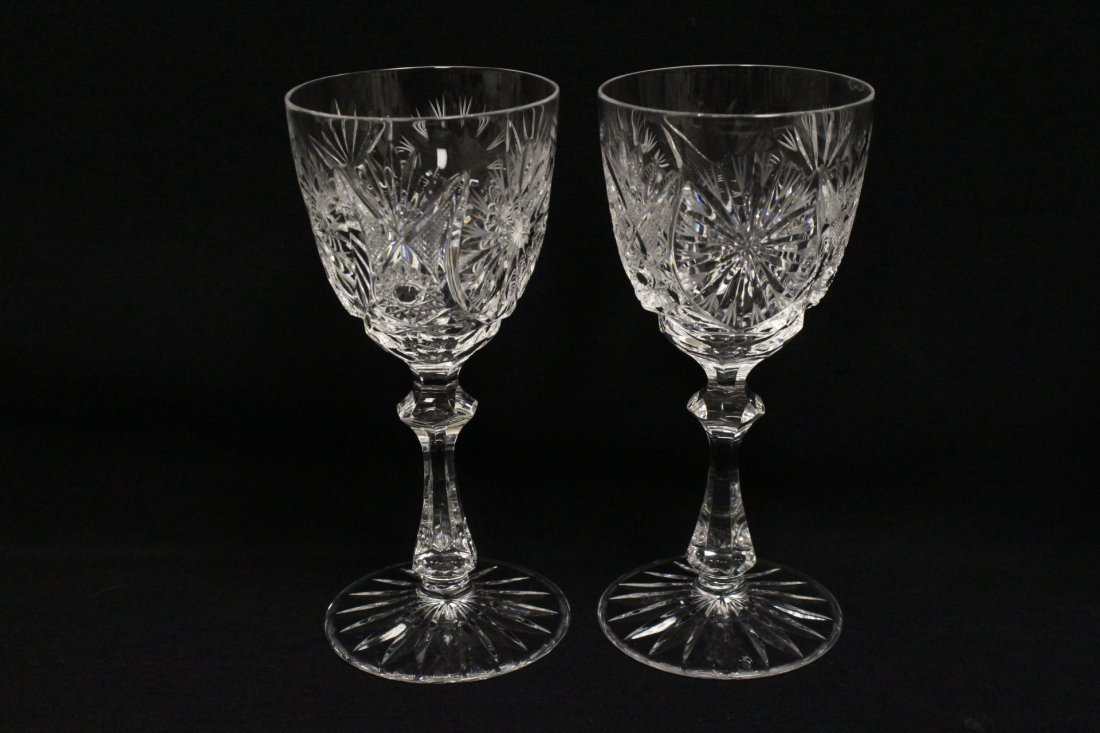 Approx. 39 pieces crystal wine goblet set - 3