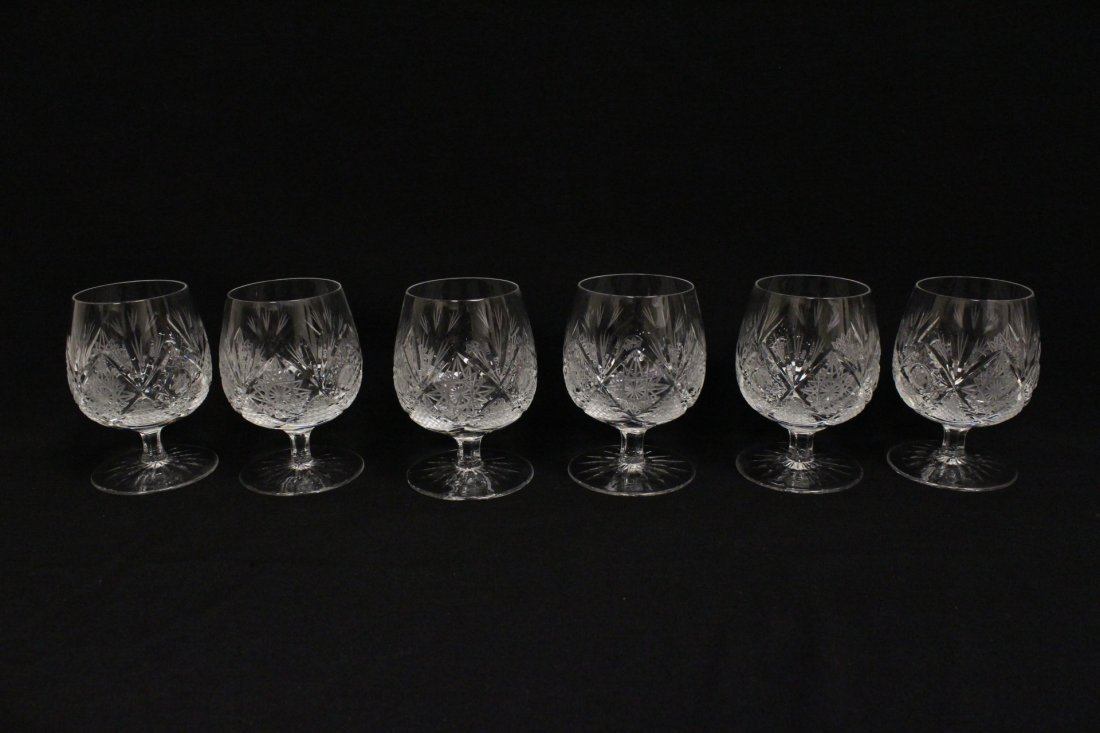 Approx. 39 pieces crystal wine goblet set - 6
