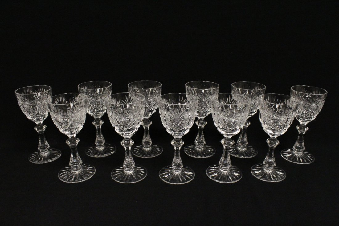 Approx. 39 pieces crystal wine goblet set - 8