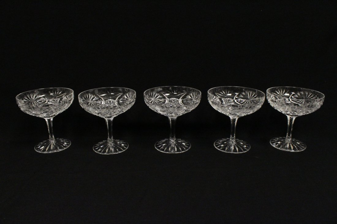 Approx. 39 pieces crystal wine goblet set - 9