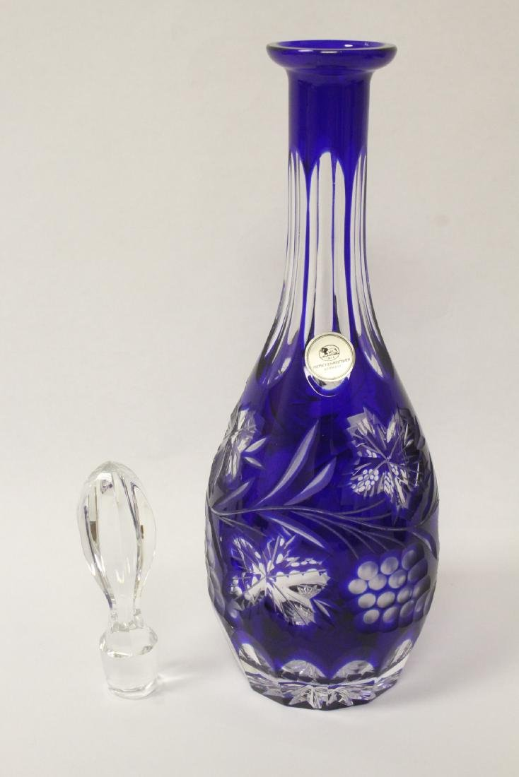 2 Bohemian crystal decanters - 4