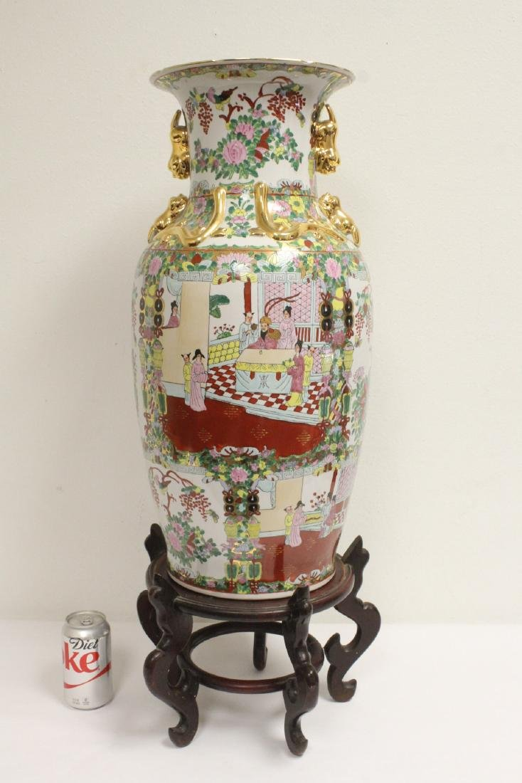 Chinese rose canton vase
