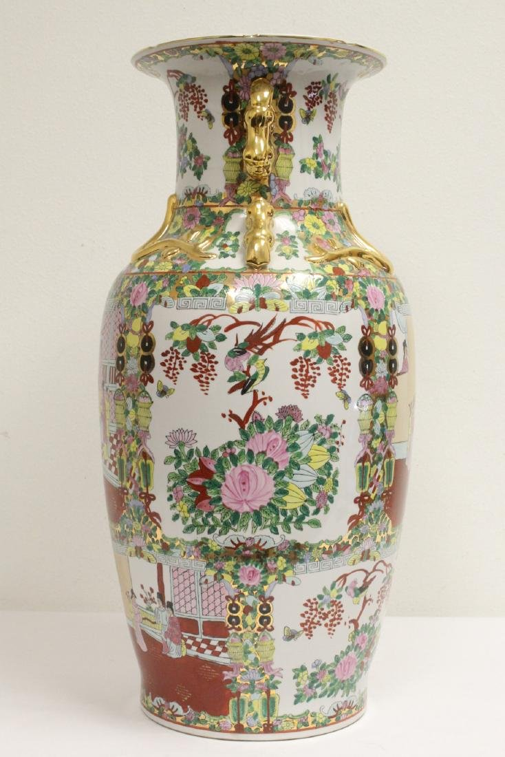 Chinese rose canton vase - 6