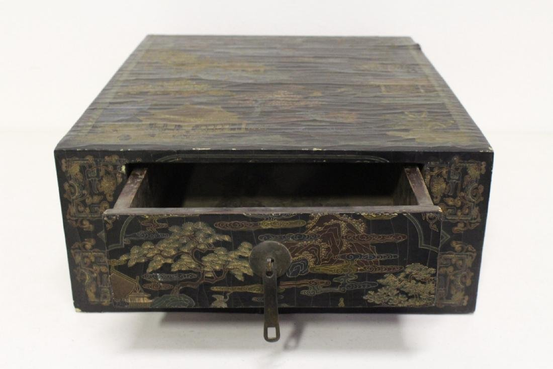 A fine Chinese miniature lacquer cabinet - 3