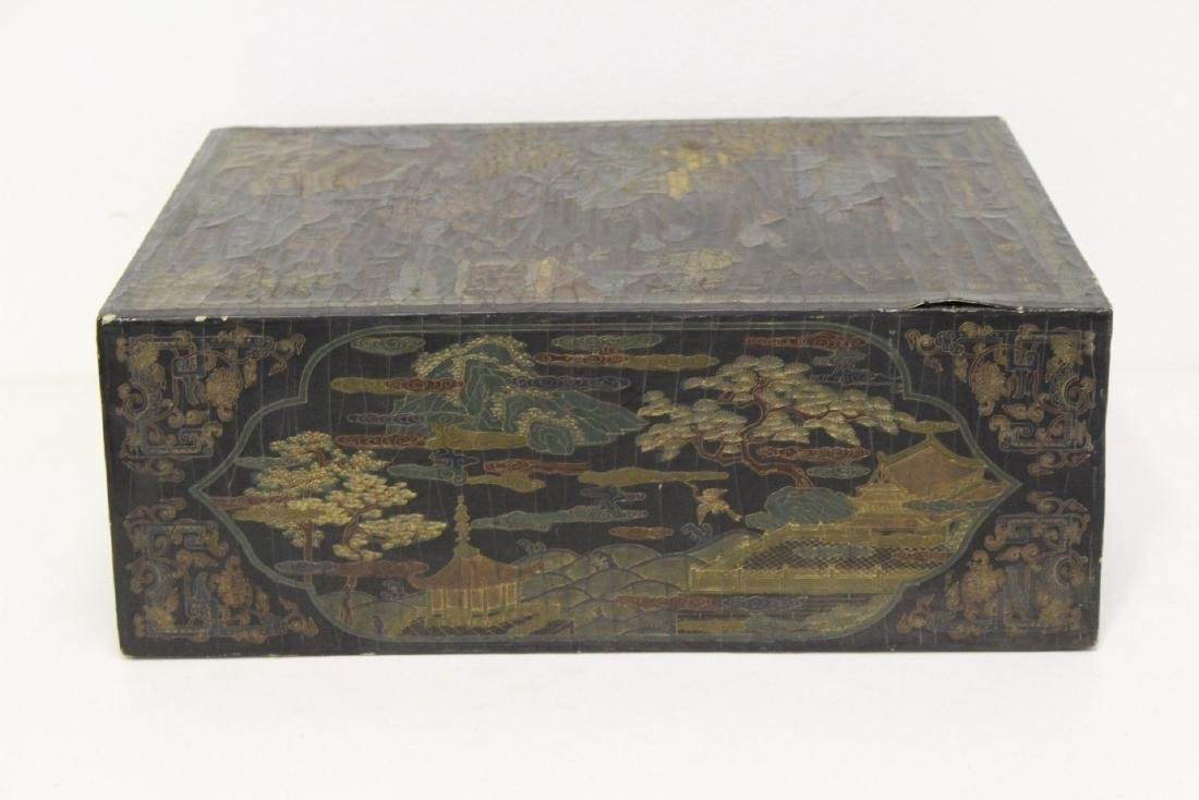 A fine Chinese miniature lacquer cabinet - 5