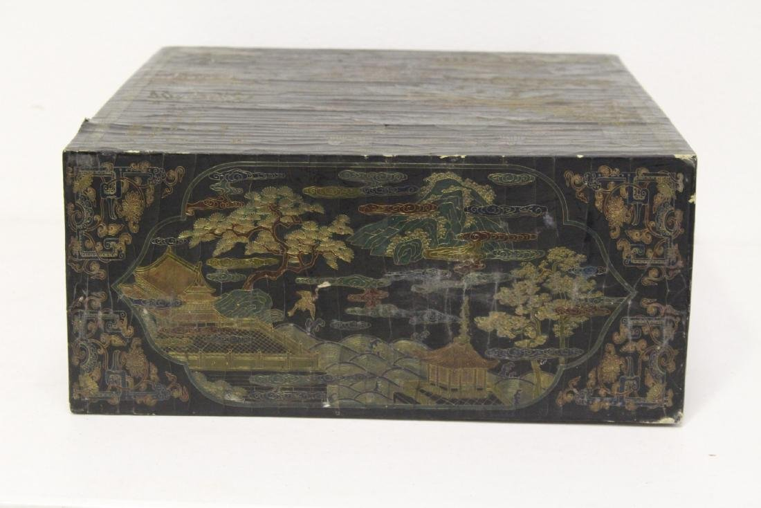 A fine Chinese miniature lacquer cabinet - 6
