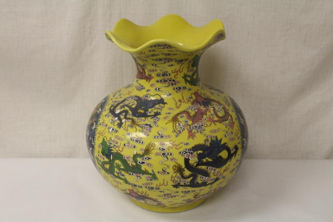 A large famille rose porcelain jar - 3