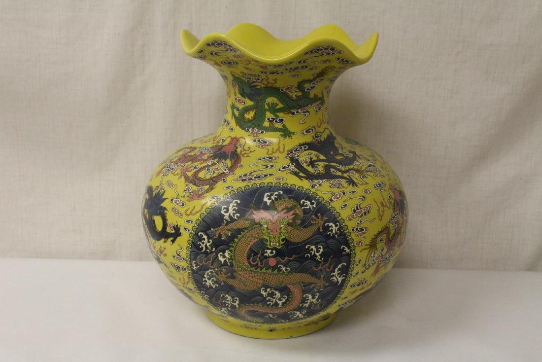 A large famille rose porcelain jar - 4