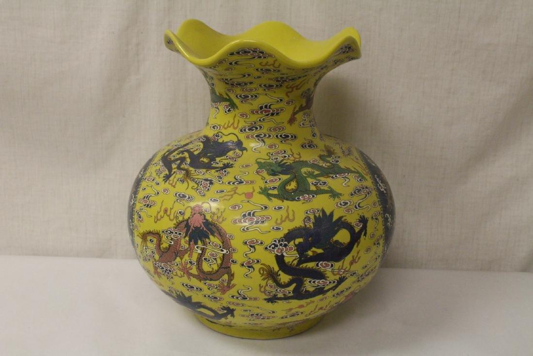 A large famille rose porcelain jar - 5