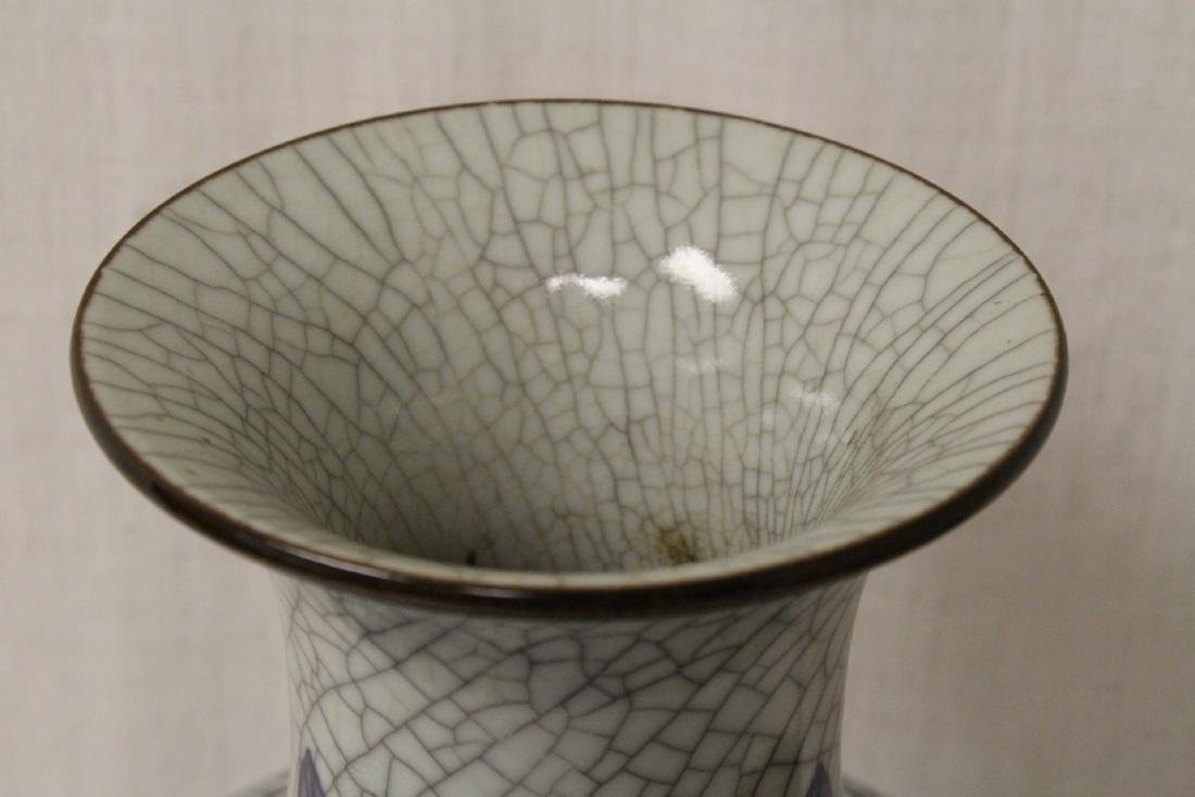 Chinese b&w crackle ware porcelain vase - 9