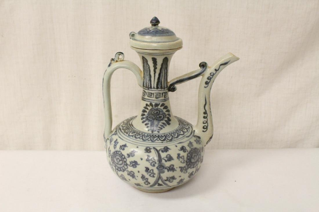 Chinese blue and white porcelain wine server