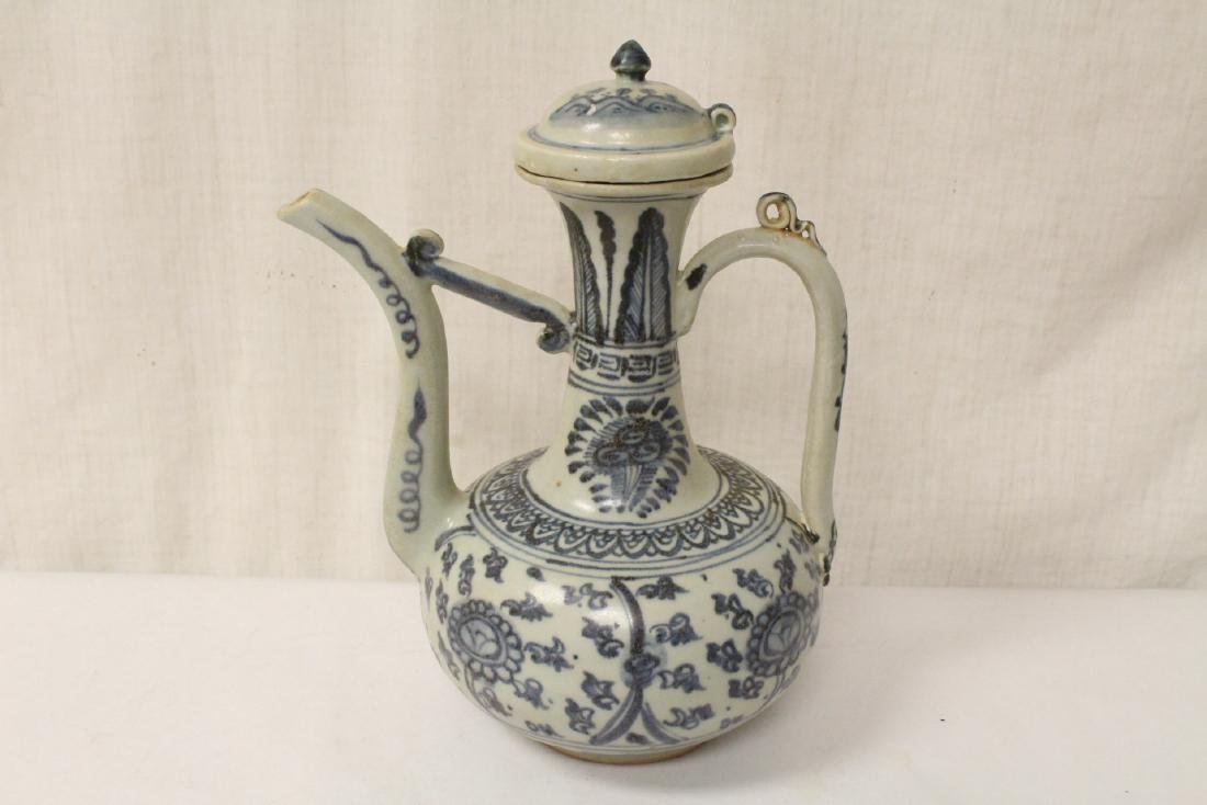 Chinese blue and white porcelain wine server - 5
