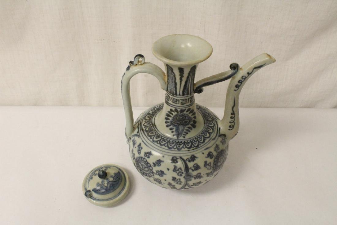 Chinese blue and white porcelain wine server - 6