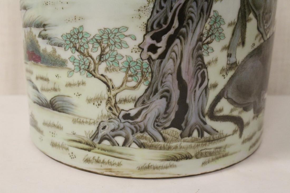 Chinese famille rose porcelain brush holder - 6