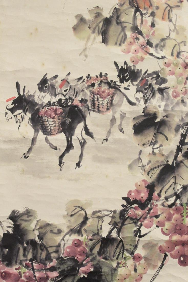 Chinese watercolor scroll signed Song Lian Qi - 10