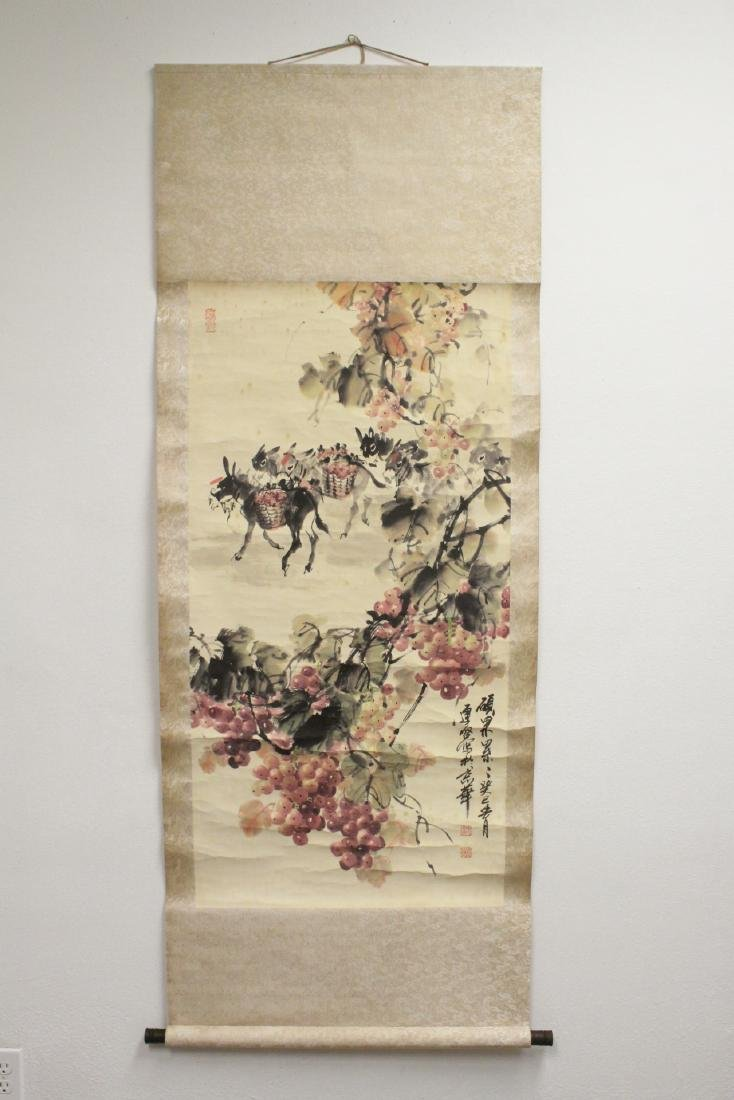 Chinese watercolor scroll signed Song Lian Qi - 2
