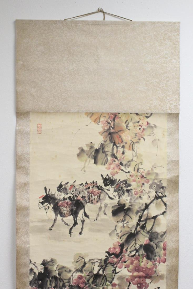 Chinese watercolor scroll signed Song Lian Qi - 3