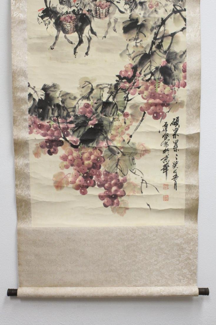 Chinese watercolor scroll signed Song Lian Qi - 4
