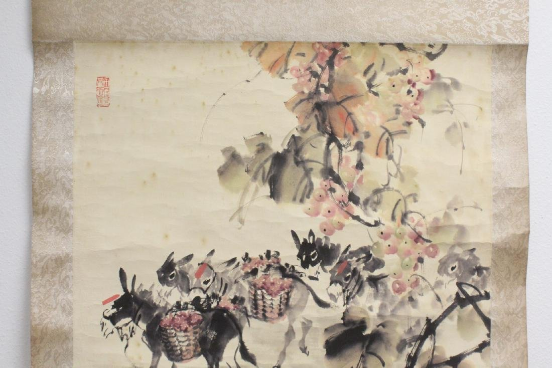 Chinese watercolor scroll signed Song Lian Qi - 5
