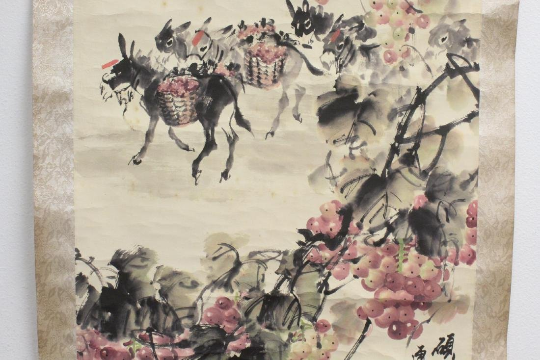 Chinese watercolor scroll signed Song Lian Qi - 6