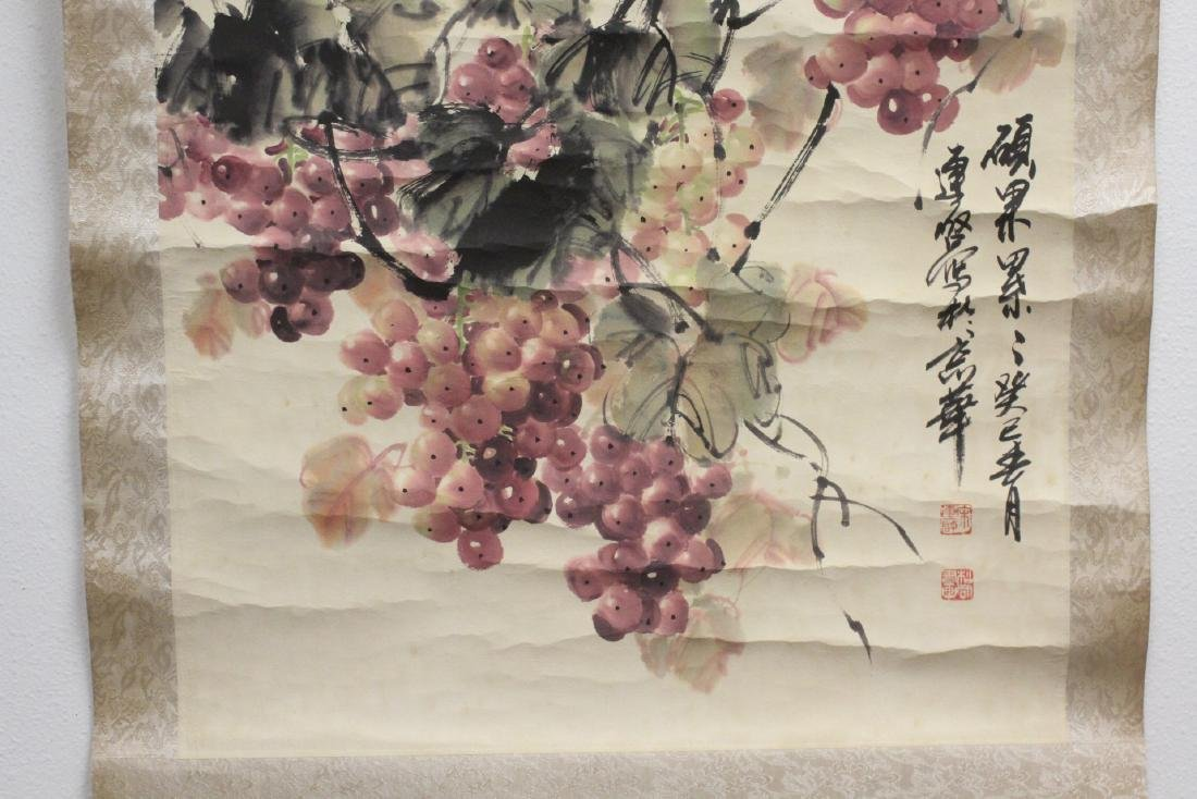 Chinese watercolor scroll signed Song Lian Qi - 7