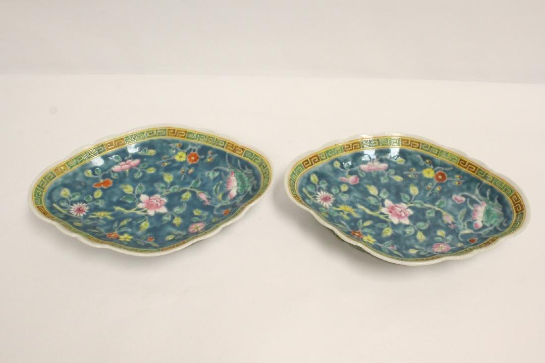 Pr Chinese antique famille rose porcelain plates