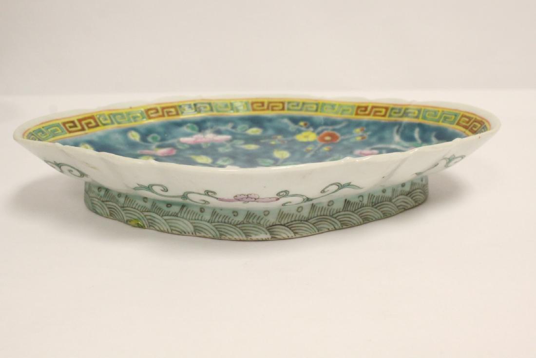 Pr Chinese antique famille rose porcelain plates - 2