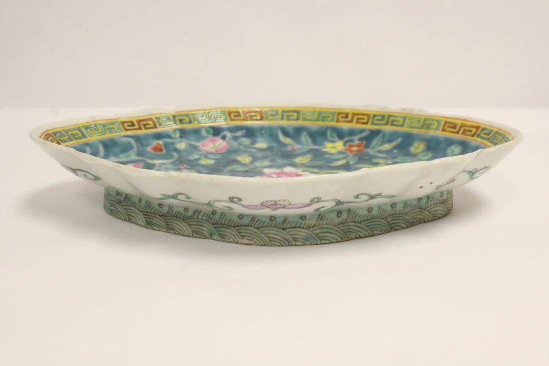 Pr Chinese antique famille rose porcelain plates - 3