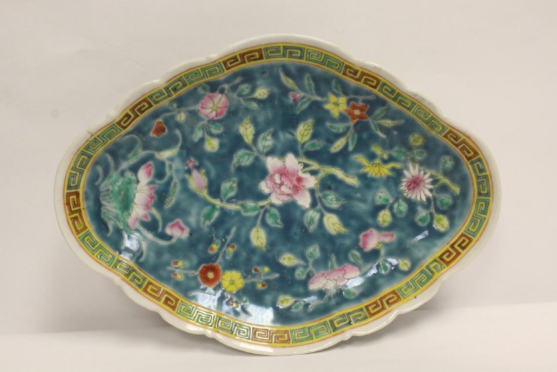 Pr Chinese antique famille rose porcelain plates - 4