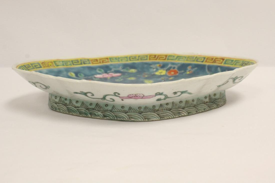 Pr Chinese antique famille rose porcelain plates - 6