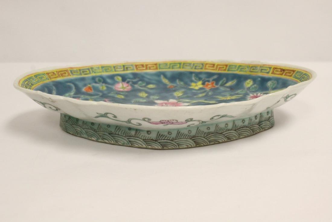 Pr Chinese antique famille rose porcelain plates - 7