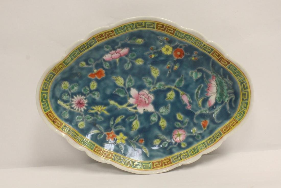Pr Chinese antique famille rose porcelain plates - 8