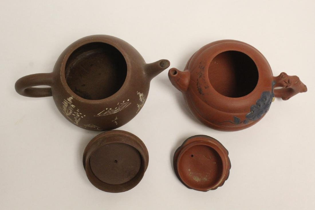 2 Chinese Yixing teapots - 5
