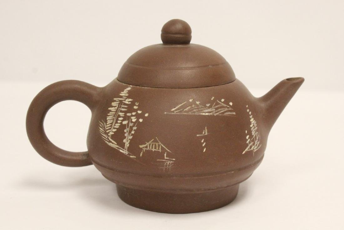 2 Chinese Yixing teapots - 9
