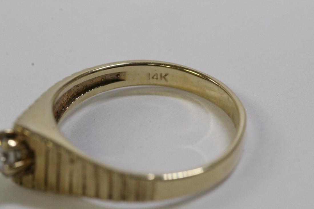 14K Y/G diamond ring - 6