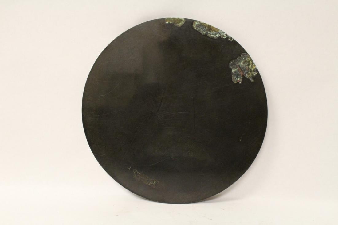 A large bronze mirror - 4