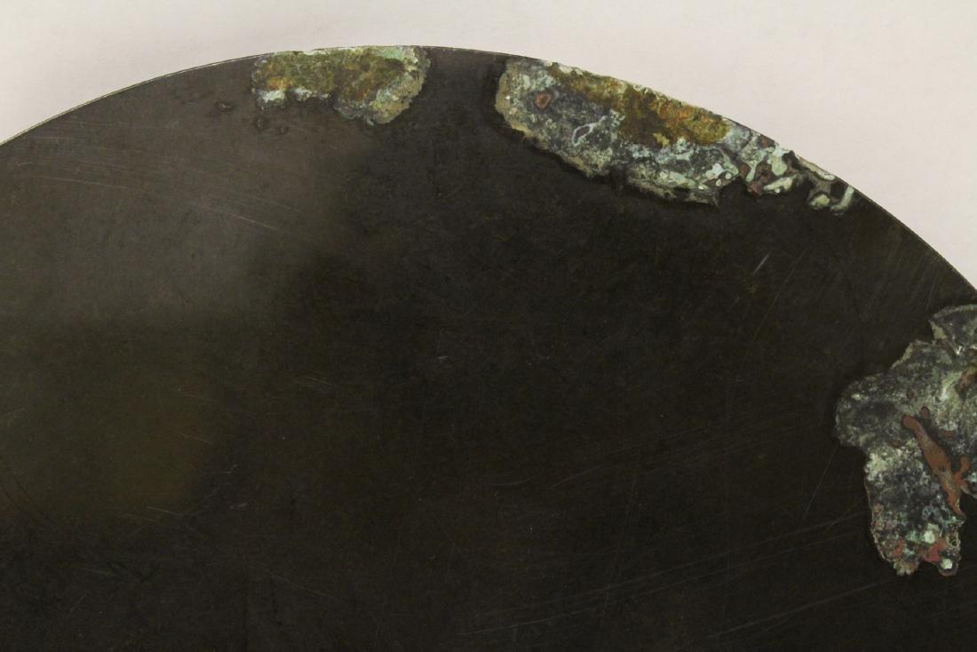 A large bronze mirror - 5