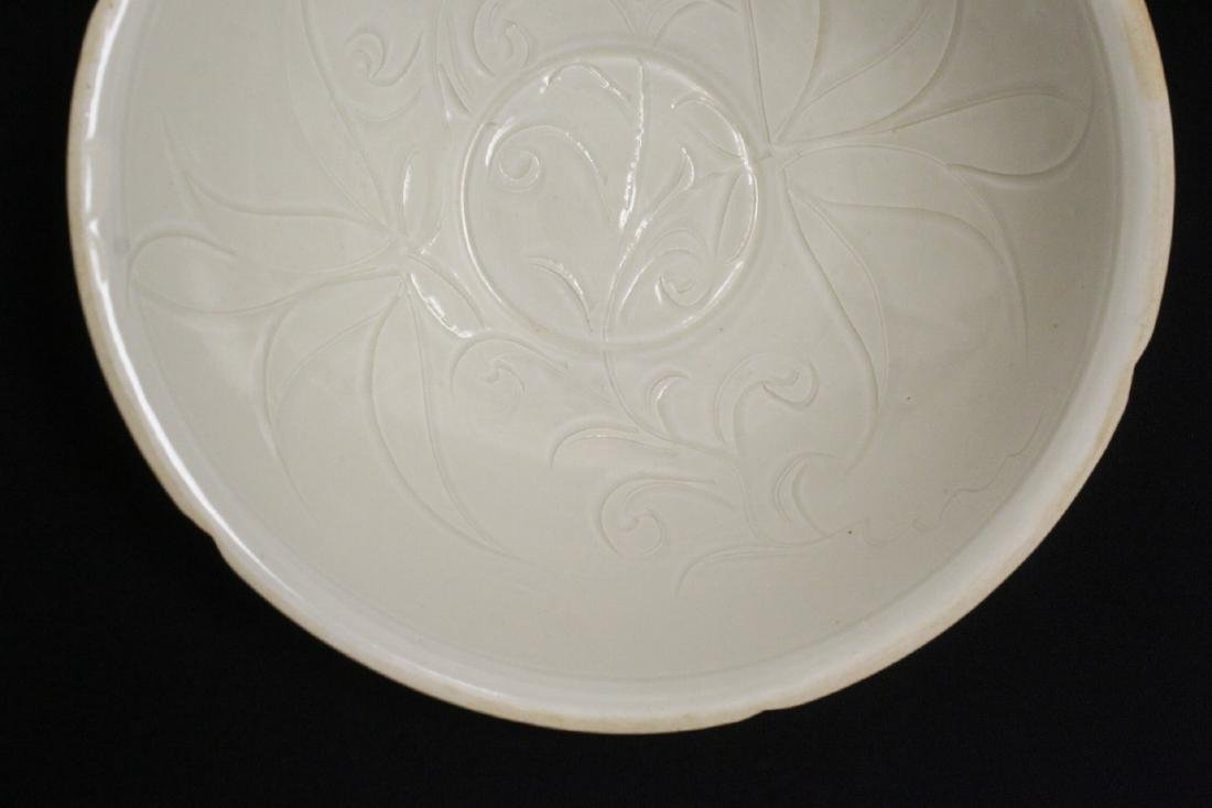 A Song style white porcelain bowl - 4