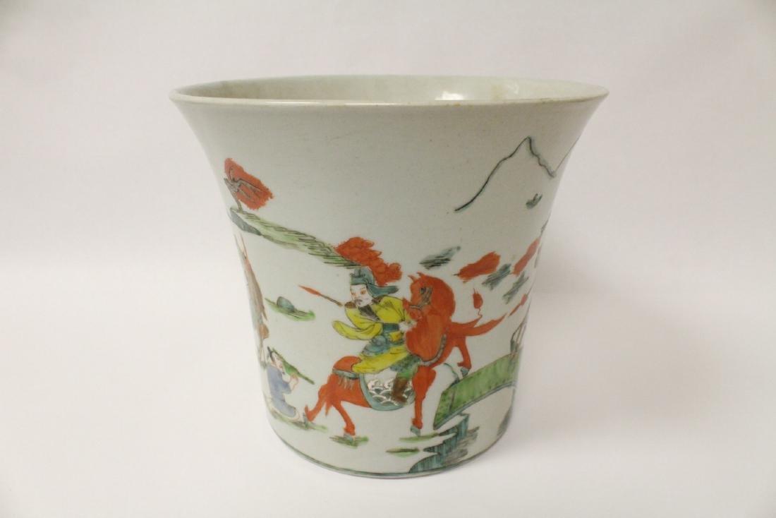 Chinese vintage famille rose porcelain planter