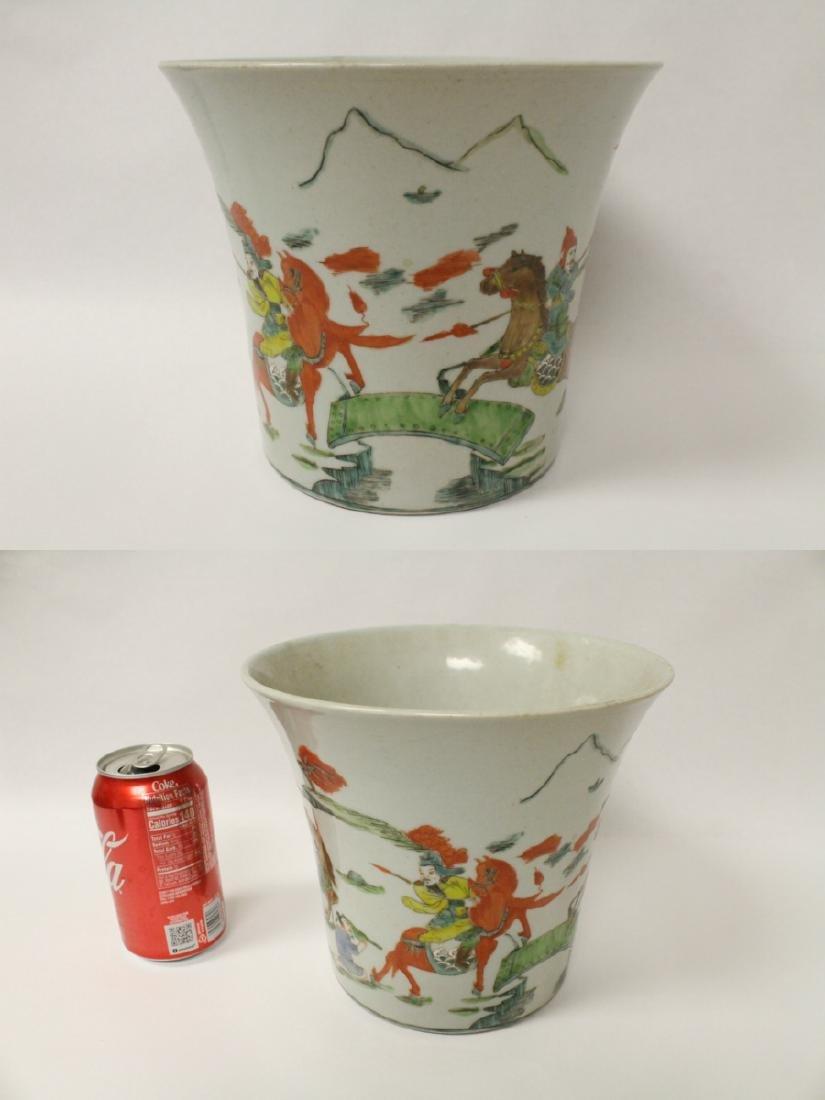 Chinese vintage famille rose porcelain planter - 2