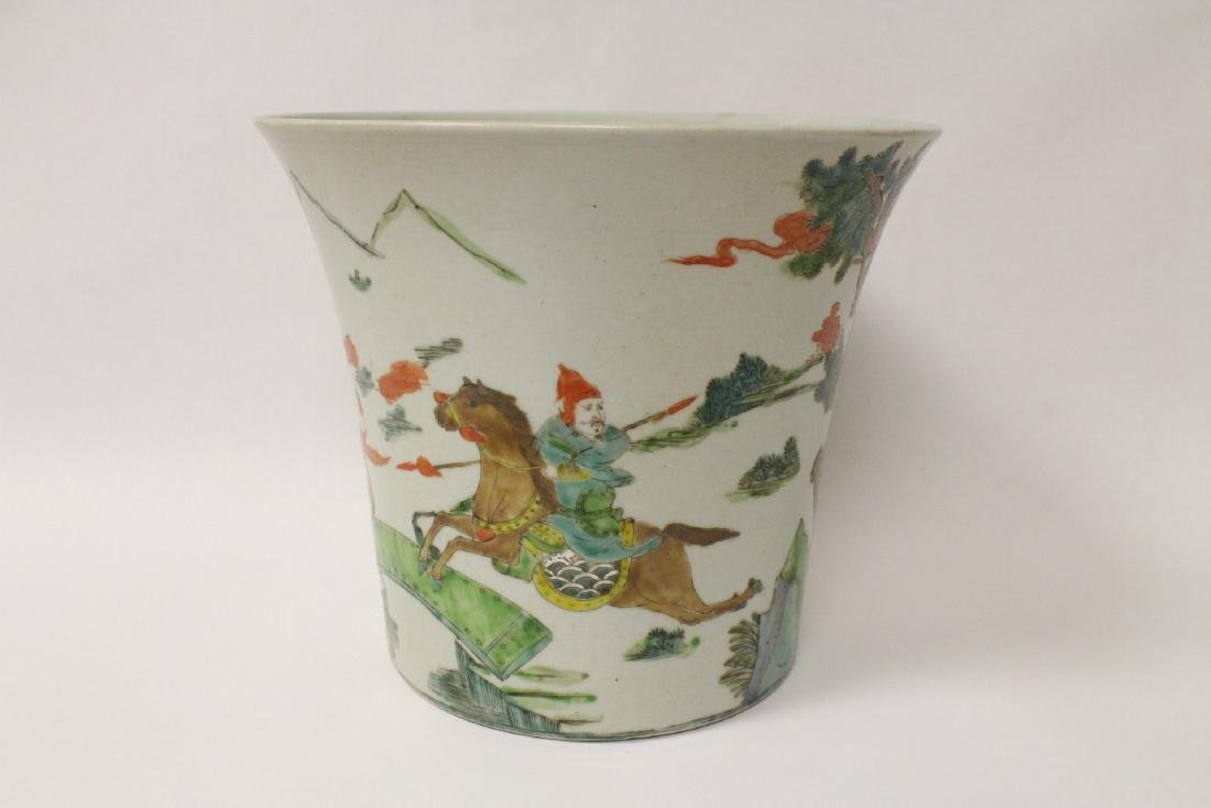 Chinese vintage famille rose porcelain planter - 3
