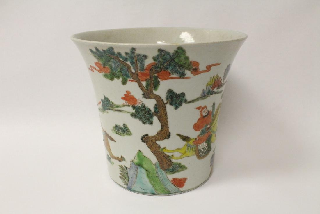 Chinese vintage famille rose porcelain planter - 4
