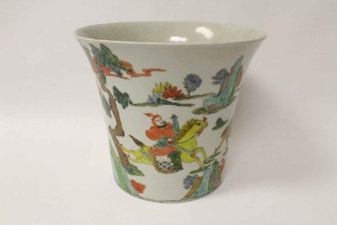 Chinese vintage famille rose porcelain planter - 5