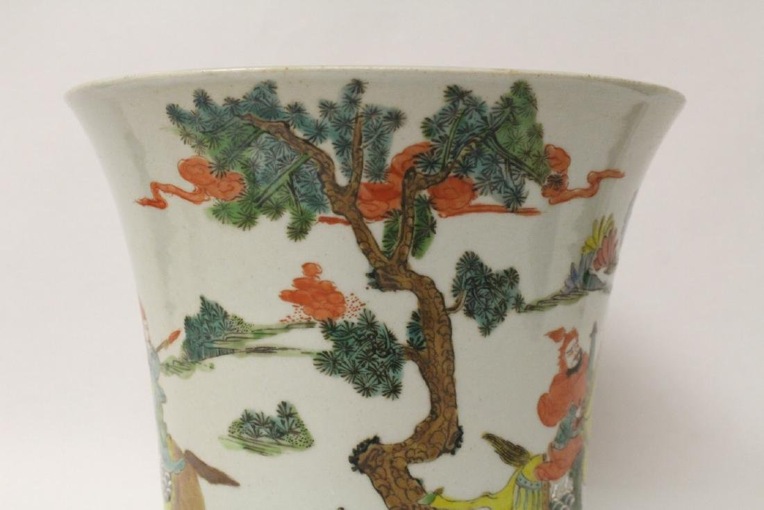 Chinese vintage famille rose porcelain planter - 8