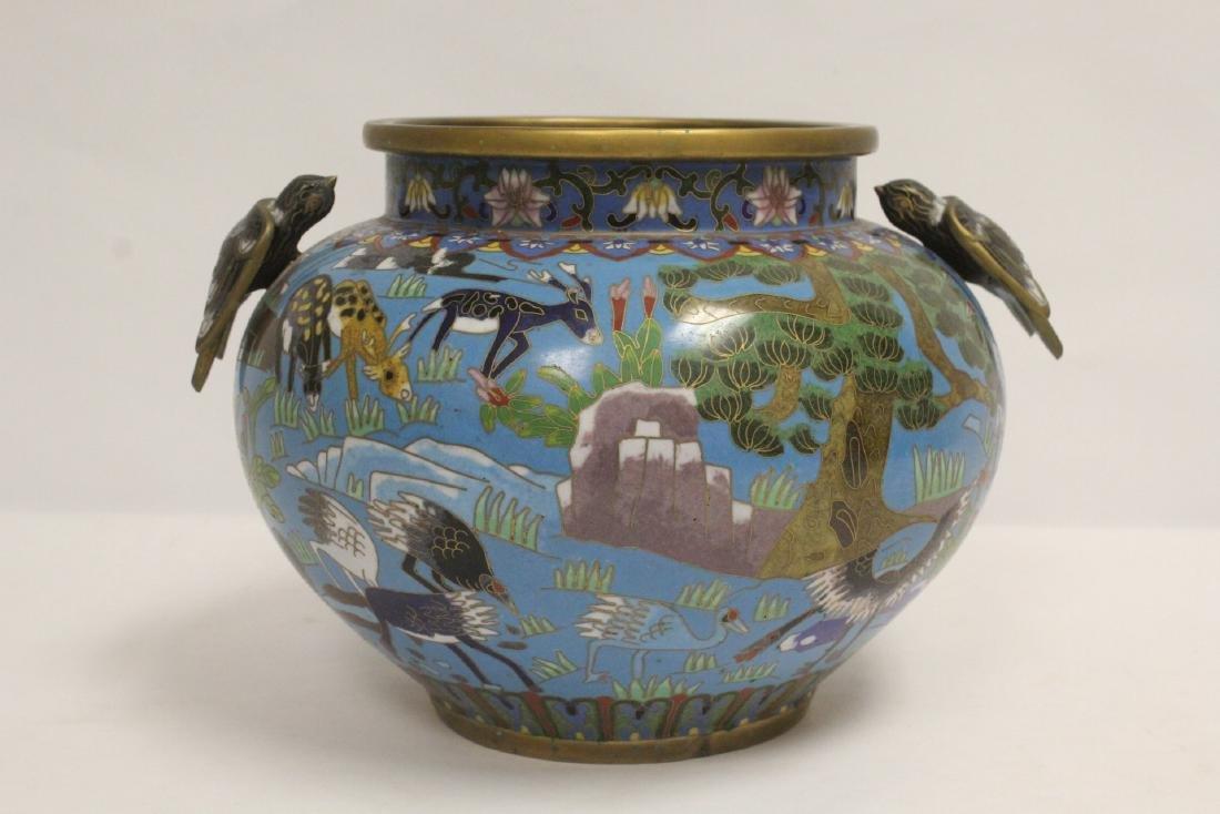 Chinese vintage cloisonne jar