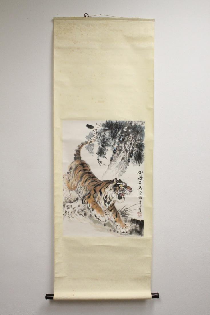 "Watercolor scroll ""tiger"" - 2"