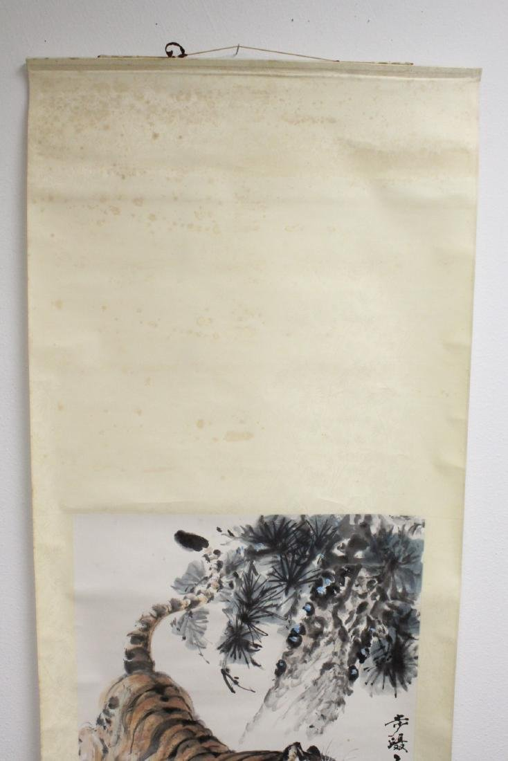 "Watercolor scroll ""tiger"" - 3"