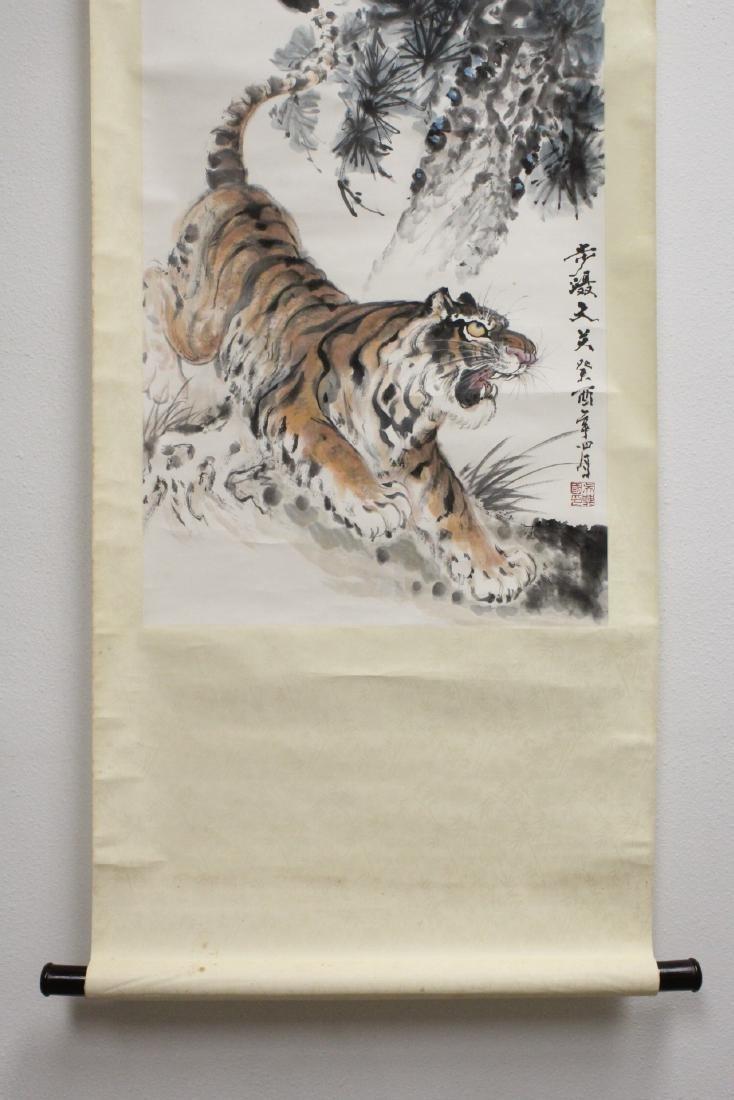 "Watercolor scroll ""tiger"" - 4"