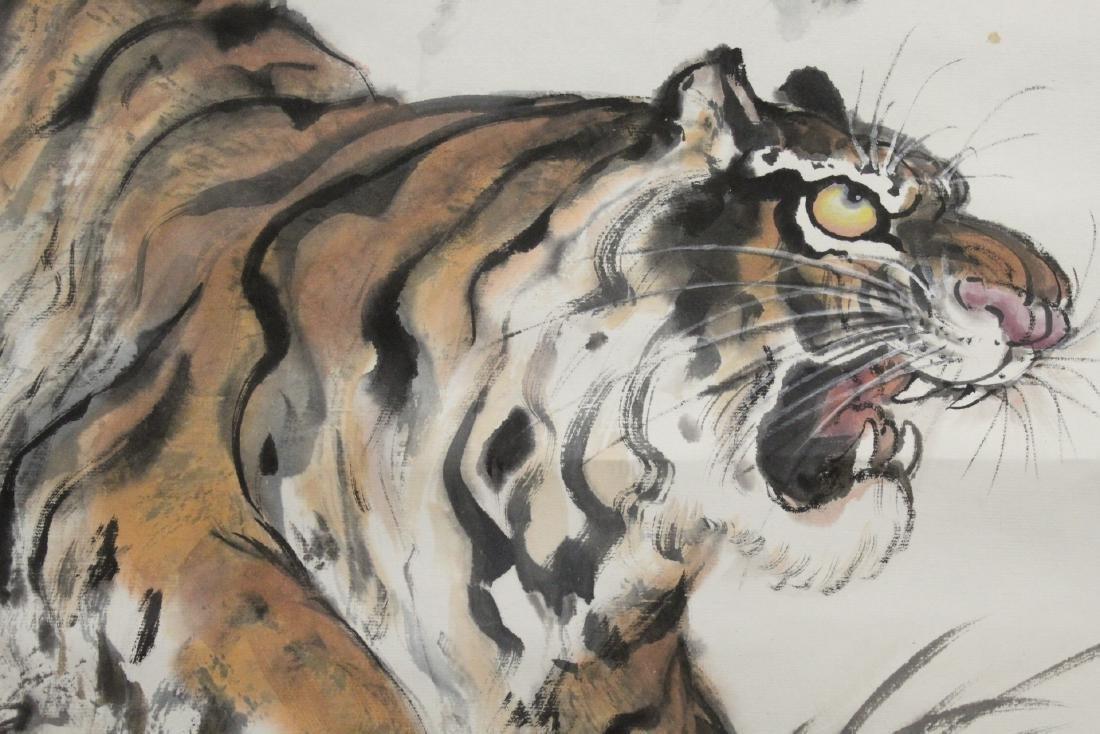 "Watercolor scroll ""tiger"" - 8"