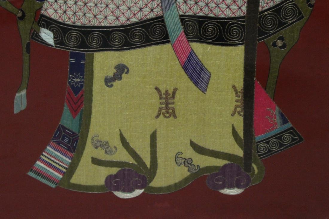 "Large embroidery panel ""god of longevity"" - 10"